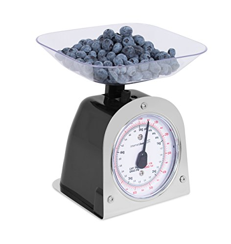 Internet's Best Mechanical Kitchen Food Weight Scale With Bowl Accurate Measurements Weighs Up 11 Lbs 1kg 5kg