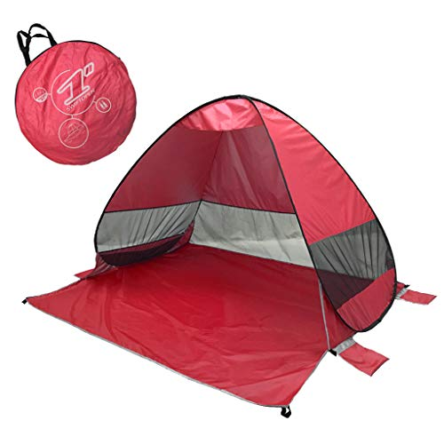 Keepfit Anti Uv Heave Up Tent Outdoor Beach Shade Shelter Tent Best For Camping Fishing Hiking (red)