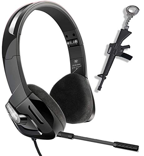 Kids Gaming Headset For Ps4 Xbox One Pc, Foldable Headphones With Detachable Mic, Ultra Lightweight&noise Canceling Best Gift For 6 7 8 9 10 11 12 Year Old Boy Girls, 3.5mm Jack Adapter Included
