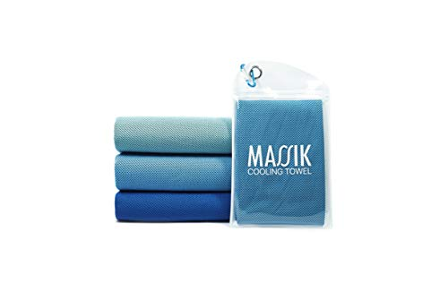 Massik Cooling Towel For Neck, Ice Cold Scraft With Extra Soft And Instant Chilly Relief Best For Althetes On Sport, Yoga, Pilate, Golf, Traveling Camping, Gym, Running, Biking & Outdoor Activite
