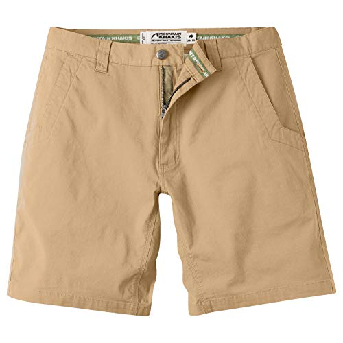 Mountain Khakis Mens All Mountain Slim Fit Short: Best Outdoor Hiking Summer Casual Short, Yellowstone, 32w 8in
