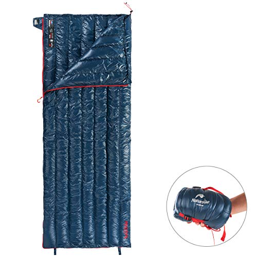 Naturehike Ultralight Goose Down Sleeping Bag 800 Fill Power Ultra Compact Best Down Filled Lightweight Envelope Sleep Bags For Backpacking Hiking Camping (dark Blue)