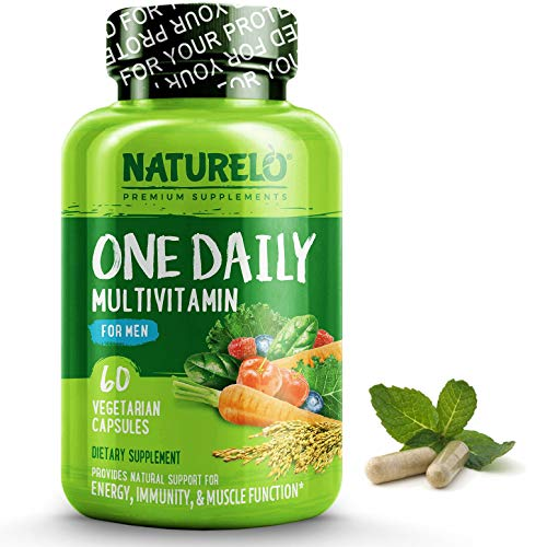 Naturelo One Daily Multivitamin For Men With Whole Food Vitamins & Organic Extracts Natural Supplement Best For Energy, General Health Non Gmo 60 Capsules | 2 Month Supply