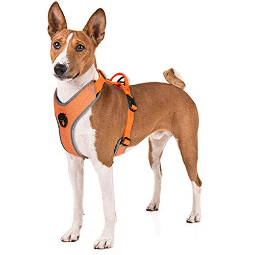 No Pull Dog Harness With Handle, Front Clip For easy Walk Training hiking, No Choke Adjustable Reflective Soft Padded Heavy Duty Dog Vest For Small/medium/large Breed Dogs Puppy Best Dog Puppies