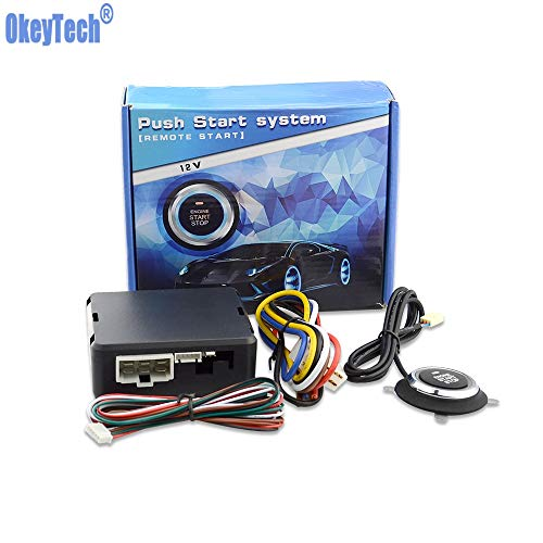 Okeytech Best Car Start Stop Engine System Push Button Keyless Entry System With Start Stop Button Auto Alarm Remote Engine
