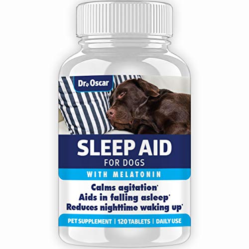 Organic Dog Sleep Aid For Dogs, Better Than Melatonin For Dogs 3mg Or Calming Chews, Best Dog Sleeping Pill + Dog Melatonin, Melatonin Dog Treats, 120 Sleeping Pills For Dogs, Puppy Sleeping Aid, Usa