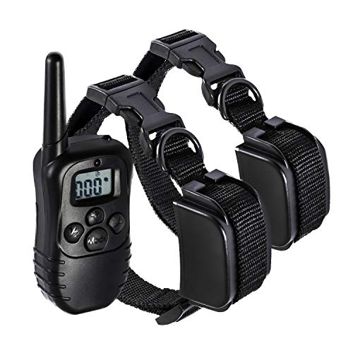 Paws & Pals Shock Collar For Dogs Safe W/adjustable Intensity, Waterproof, Electric Re Chargeable Best For S/m/l/x Large Dog Bark Remote Control Training Collar | Up To 330 Yards, Lcd, 100lv, 2 Pack