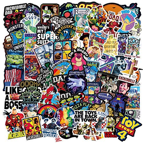 Pixar Anime Themed Set Sticker, Toy Story And The Incredibles Stickers For Kids,laptop Hydro Flask Water Bottle Guitar Helmet Skateboard Luggage Bike Bumper,best Gift For Kids Teen(100 Pieces)