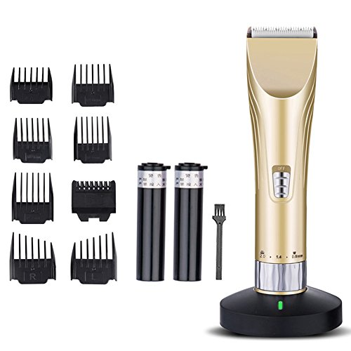 Professional Hair Clippers Rechargeable Haircut Kit Best For Adults, Men, Kids And Babies Hair Trimmers (gold)