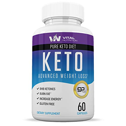Pure Keto Diet Pills Ketosis Supplement To Burn Fat Fast Ketogenic Carb Blocker Best Keto Diet Pills For Women And Men Helps Boost Energy & Metabolism 60 Capsules
