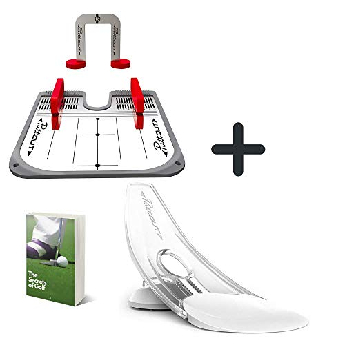 Puttout Pressure Putt Trainer With Practice Putting Mirror Ultimate Set For Eyeline And Putting Alignment, Perfect For Putting Green Indoor, The Best Putting Aids For Golf With Exclusive E Book