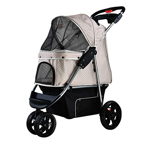 Stroller For Dogs, Stroller For Dogs,pet Strollers For Small Medium Dogs & Cats 3 Wheels Elite Jogger Carriages Best For Cat & Large Puppy (color : Gray)