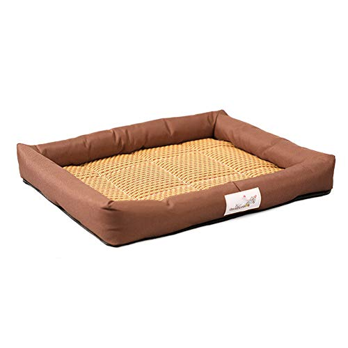Summer Pet Bed Pet Mat Summer Cats And Dogs Kennel Bed Pad Pet Ice Silk Pad Cool Pad Pet Supplies,the Best Choice For All Kinds Of Pets In Summer,brown,l