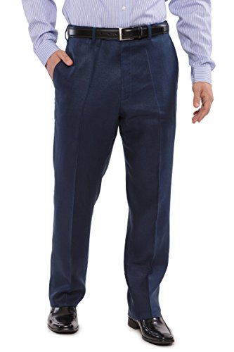 Texere Men's Adjustable Linen Dress Pants (midnight Blue, 34) Best Ml1201 Mid 34