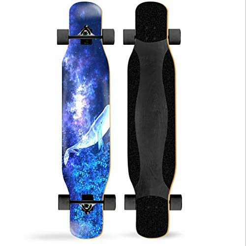 "Tyxtyx 47"" Inches Skateboard Drop Through Freestyle Longboard, 7 Layer Maple Wood Deck Cruiser For Beginners And Professionals The Best Gift"