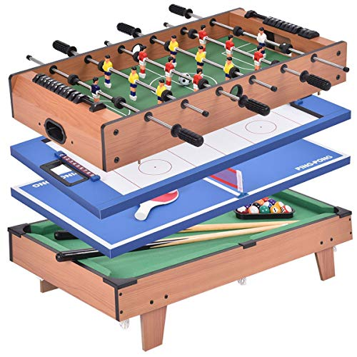 Usa Best Seller 4 In 1 Multi Game Swivel Steady Combo Game Table Hockey Soccer Foosball Pool Tennis Table