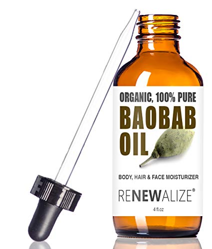 Usda Certified Organic Baobab Oil In 4 Oz Dark Glass Bottle With Dropper | Best Quality 100 Pure Cold Pressed And Unrefined | Essential All Natural Skin Nails And Hot Oil Treatment Hair Moisturizer
