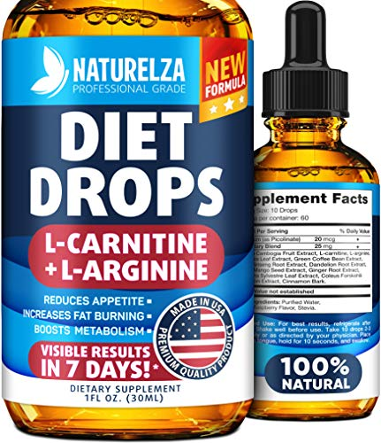 Weight Loss Drops Made In Usa Best Diet Drops For Fat Loss Effective Appetite Suppressant & Metabolism Booster 100% Natural, Safe & Proven Ingredients Non Gmo Fat Burner Garcinia Cambogia