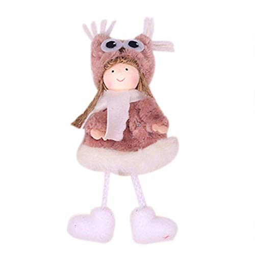 Wustrious Christmas Doll Hanging Angel, Cute Angel Plush Doll Christmas Tree Door Wall Hanging Decoration House Ornaments Patio Lawn Garden Party Halloween Decoration Enjoyable Best Service