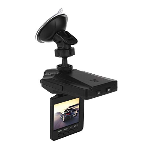 """Xgao Best Dash Cam View Mirror Full 1080p Hd Video Suction Cup Mount Recorder Car Dvr With Night Vision Support Detection Loop Recording Parking Mode 32gb 2.2""""120° Wide View (black)"""
