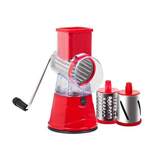 Zenglingliang Slicer Multifunction Rotary Cheese Grater Slicer, Round Mandoline Drum Slicer Manual Vegetable Slicer With A Stainless Steel Peeler, The Best Kitchen Accessories