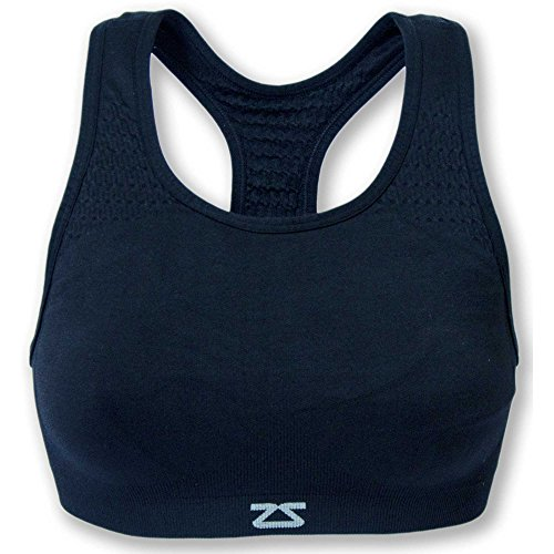 Zensah Seamless Sports Bra Supportive, Comfortable, Best Bras For Running And Workouts For Women Navy