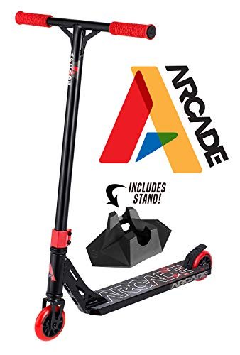 Arcade Pro Scooters Stunt Scooter For Kids 8 Years And Up Perfect For Beginners Boys And Girls Best Trick Scooter For Bmx Freestyle Tricks (black/red)
