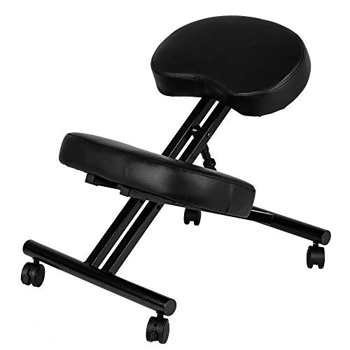 Avgdeals Ergonomic Kneeling Chair Adjustable Stool Furniture Knee Rest Thick 265lbs | Great Tool To Correct Sitting Posture And Best Useful Tool For Your Neck, Spine And Back Problems