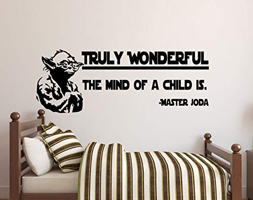 Best Design Amazing Star Wars Wall Decals Truly Wonderful The Mind Of A Child Is Decal Master Yoda Star Wars Kids Wall Stickers Wall Decal Nursery Wall Decor Made In Usa!