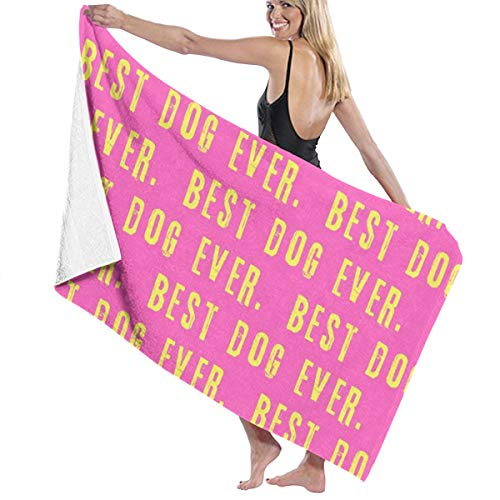 Best Dog Ever Men And Women Wrap, Shower & Bath, Terry Spa Towel(32inch X 52inch)