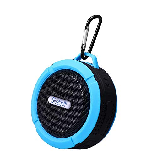 Best Outdoor Waterproof Bluetooth Speaker, Portable Wireless Small Rechargeable Suitable For Shower Travel Car, Biking, Room,home Tv With Suction Cup Clip On Enhanced Bass Loud Stereo With Card Slot