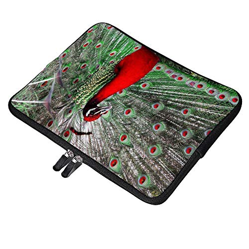 """Best Peacock Neoprene 12 Inch Laptop Sleeve Case Protective Cover Carrying Bag For 9.7"""" 10.5"""" Ipad Pro Air/ 10"""" Microsoft Surface Go/ 10.5"""" Samsung Galaxy Tab"""