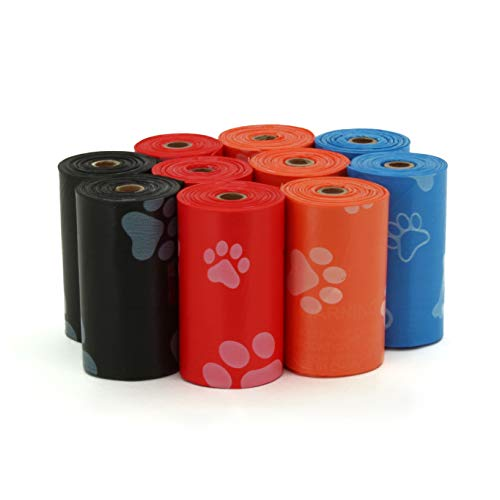 Best Pet Supplies Dog Poop Bags For Waste Refuse Cleanup, Doggy Roll Replacements For Outdoor Puppy Walking And Travel, Leak Proof And Tear Resistant, Thick Plastic Mixed Colors, 150 Bags