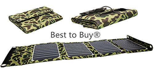 Best To Buy Nice Design High Efficient 20w Foldable Solar Panel Portable Solar Charger (usb Port + 5 18v Dc Output) For Iphones, Ipads, Samsung Galaxy Phones, Acer, Asus, Dell, Hp, Toshiba, Lenovo Notebooks, Laptops And Many Other Devices