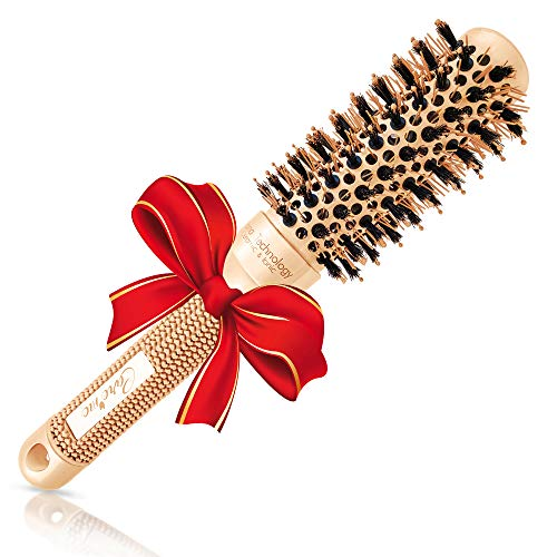 """Blow Dry Round Brush With Natural Boar Bristles For Salon Like Blowouts 
