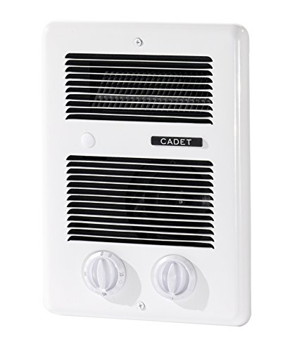 Cadet Com Pak Bath 1000w 120v/240v Best Bathroom Electric Wall Heater With Thermostat And Timer, White