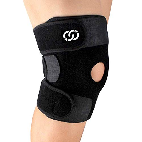 Compressiongear Patella Stabilizing Knee Brace For Arthritis, Best Joint Pain Relief, Torn Meniscus Support, Injury Recovery & Prevention, Adjustable Straps, Breathable, Running, Weightlifting, Sports