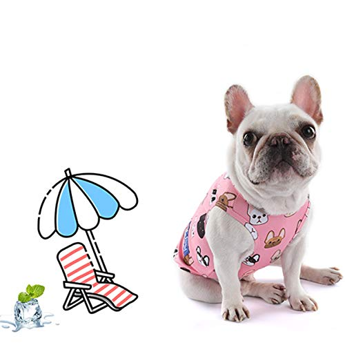 Ct Coutudi Cute Parttern Dog Cooling Vest Outdoor Puppy Cooler Shirt Sun Proof Pet Vest With Water Bottle, Best For Small Medium Large Dogs