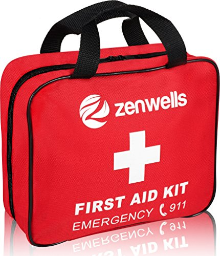 First Aid Kit Best For Emergency And Disaster Preparedness 192 Piece Medical Supplies For Home, Car, Survival Gear Or Backpacking Travel Trauma Kits To Keep Your Family Safe!