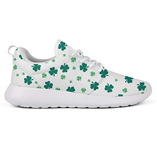 Green St. Patrick's Day Vector Cloverwhite Boys Running Shoes Light Tennis Shoes Best Shoes