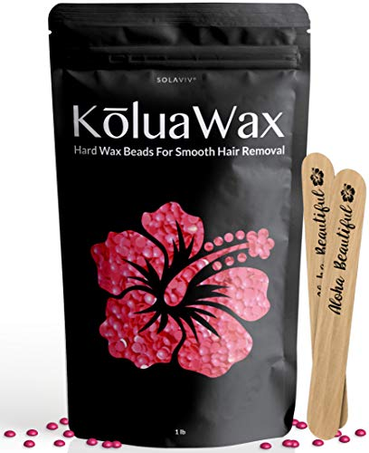 Hard Wax Beans For Painless Hair Removal (all In One Body Formula) Our Versatile Pink Best Loved By Koluawax For Face, Bikini, Legs, Underarm, Back, Chest. Large Refill Pearl Beads For Wax Warmer Kit.