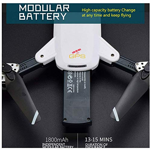 Hhoo High Capacity 3.7v 1800mah Lipo Battery For Idea 10 Yg 19g Gps Rc Quadcopter Drone, Replacement Accessories Best Gift For Boys Kids Men