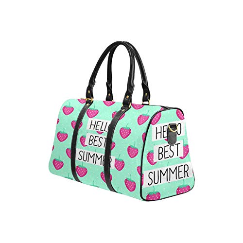 Interestprint Carry On Garment Bag Travel Bag Duffel Bag Weekend Bag Hello Best Summer Card