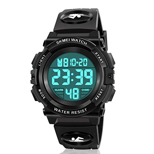 Kids Digital Watch,boys Sports Waterproof Led Watches With Alarm,wrist Watch For Boys Girls Childrens, Best Gifts For Boys (c Black)