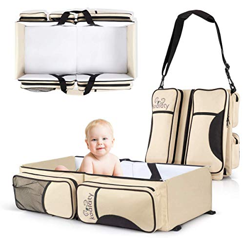 Koalaty 3 In 1 Universal Baby Travel Bag, Portable Bassinet Crib, Changing Station, Diaper Bag For Infants And Newborns. The Best Baby Shower Gift For New Mom And Dad.