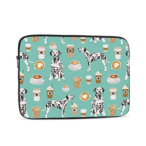 Nfdf Dalmatians Cute Mint Coffee Best Dalmatian Dog Print Laptop Sleeve Bag Evecase 13 Inch Neoprene Universal Sleeve Zipper Protective Cover Case For Notebook
