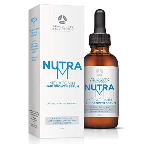 Nutram Hair Regrowth Serum For Thinning Hair For Men And Women Topical Dht Blocker, Reverse Alopecia And Hair Loss, Strengthen Hair With Melatonin, Best In Hair Growth Products – Guaranteed