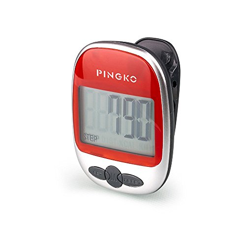 Pingko Best Pedometer For Walking Accurately Track Steps Portable Sport Pedometer Step/distance/calories/counter Fitness Tracker, Calorie Counter