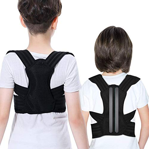 Professional Posture Corrector For Kids And Teens Adjustable Comfortable Back Brace For Teenager Girls And Boys To Improves Slouch, Prevent Humpback, Relieve Back Pain, Best Posture Brace