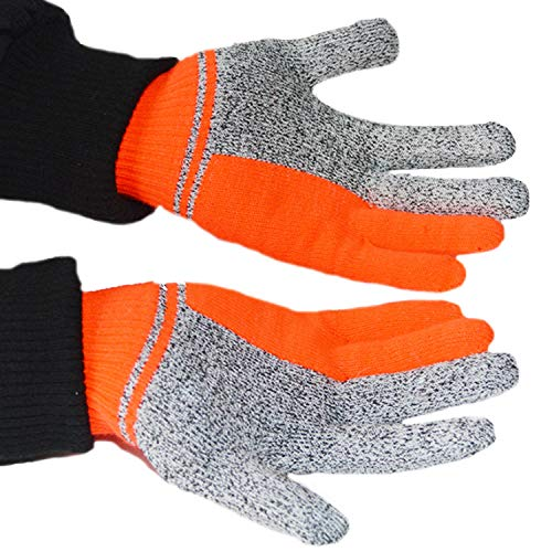 Rjjx Home Comfortable To The Touch Cut Resistant Gloves Hppe Cut Proof Jacquard Gloves, Safety Cutting Gloves For Hand Protection, Best Use For Kitchen, Outdoor Suitable For A Variety Of Occasions